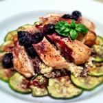 Grilled Chicken with Pinot Noir and Blueberry Glaze