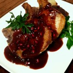 Pomegranate Pork Chops