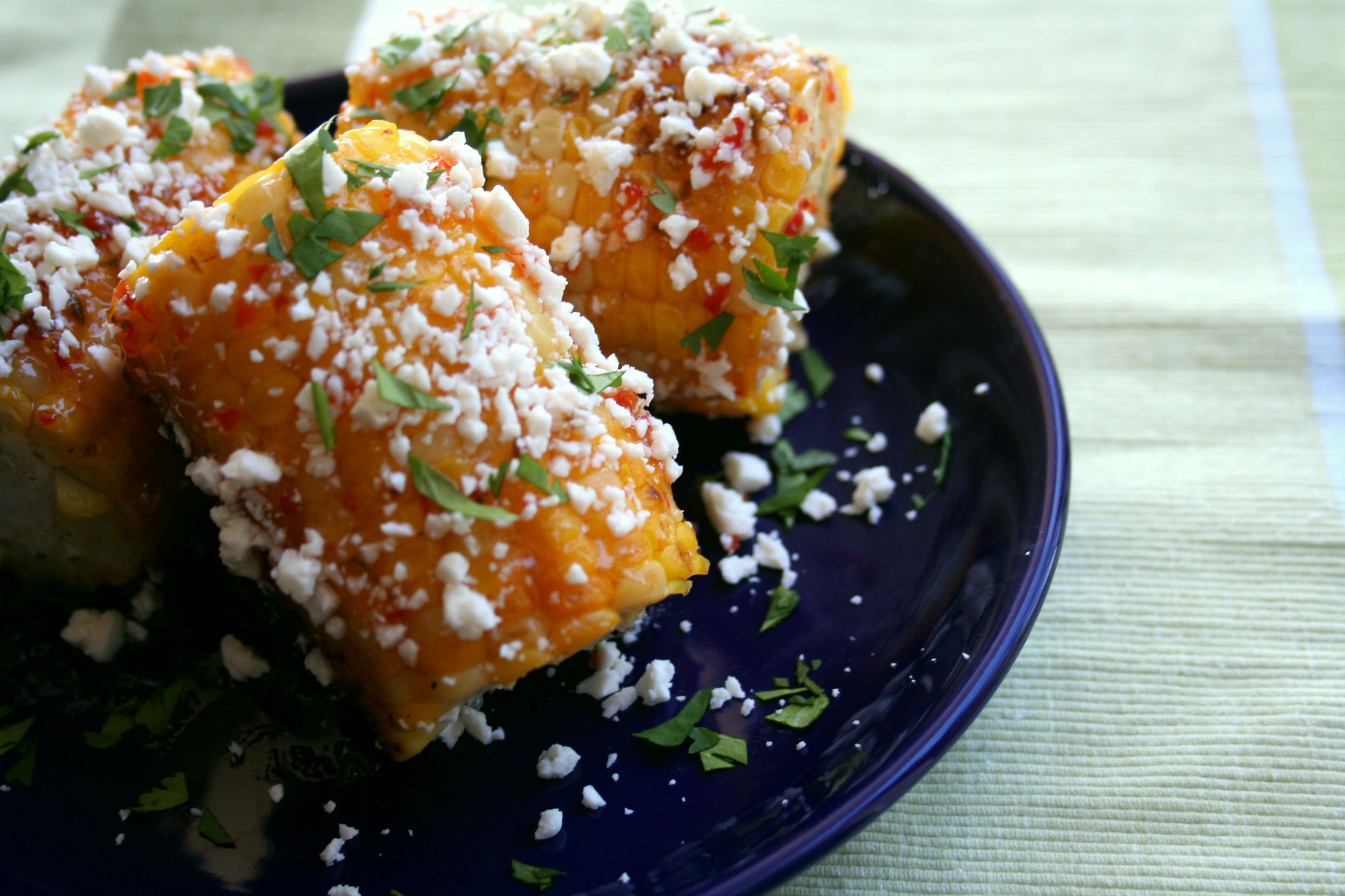 Red Pepper Jelly Street Corn