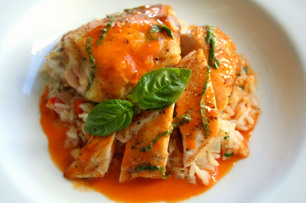 Roasted Chicken With Red Thai Curry Beurre Blanc Dash Of