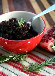 Pomegranate and Rosemary Cranberry Sauce