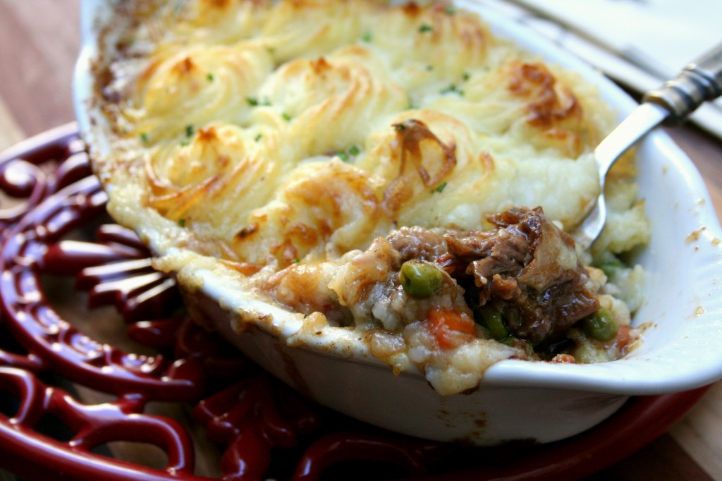 Braised Short Rib Shepard's Pie with Guinness Gravy