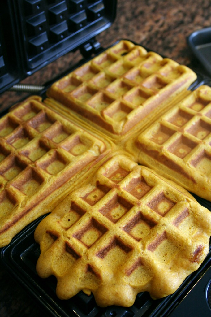 my waffle iron made 12 good sized waffles with this batter