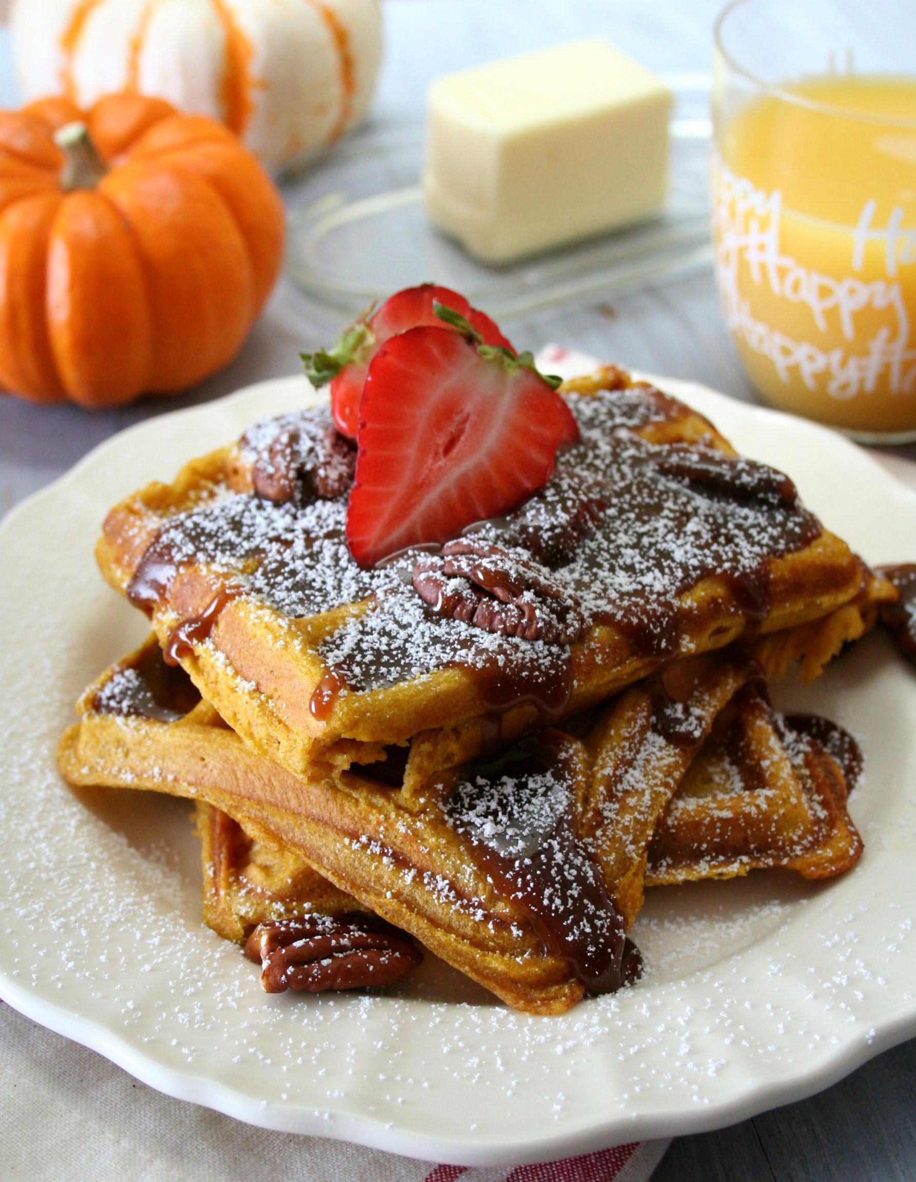 Praline Waffles Recipe — Dishmaps