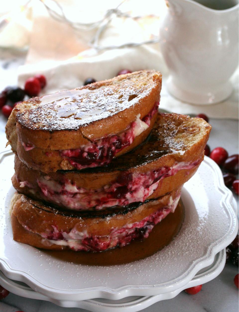Cranberry Stuffed French Toast | Dash of Savory