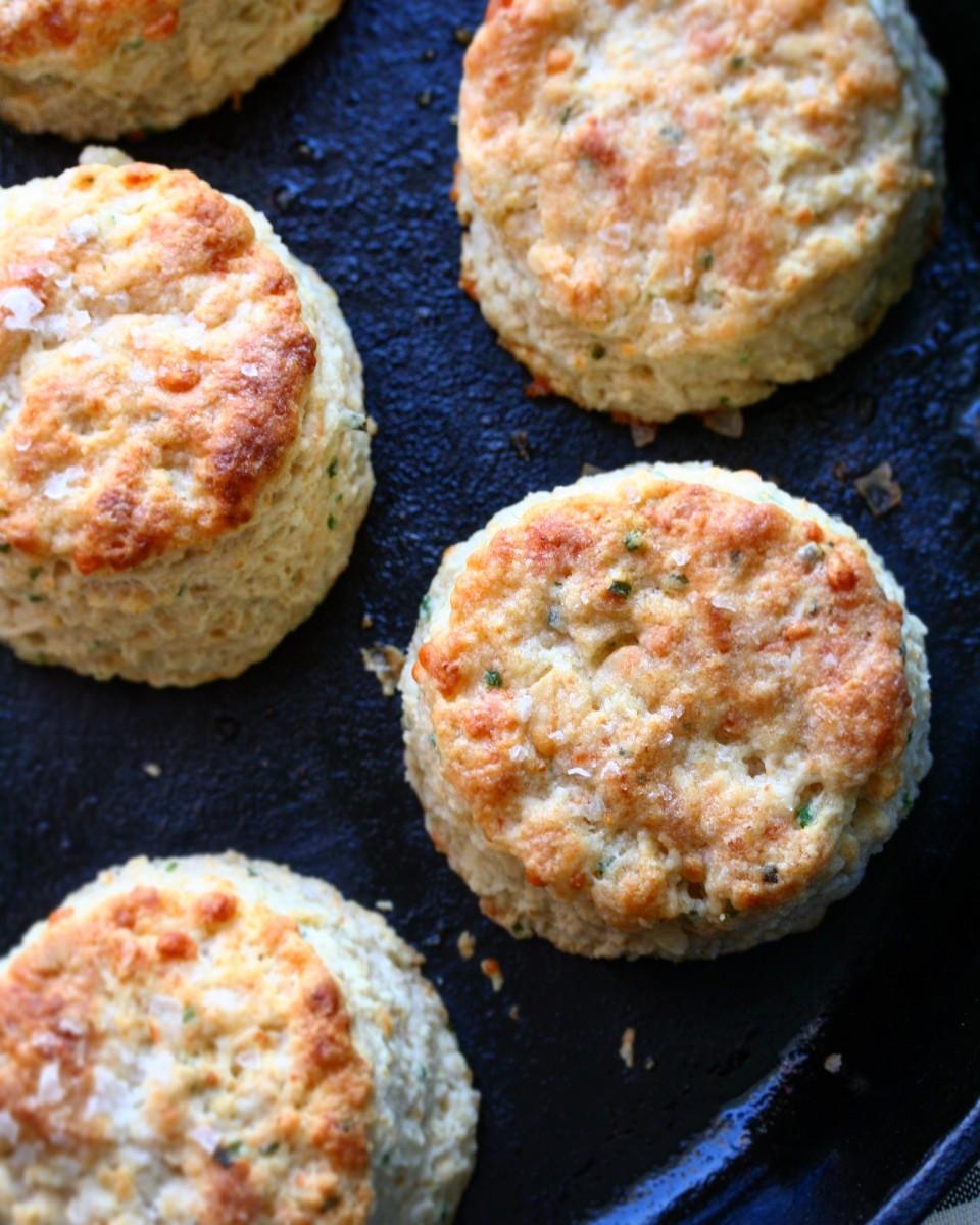 Chive-Cheddar Biscuits Recipe — Dishmaps